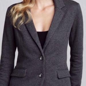 Splendid Knit Gray Pink Lined Career Blazer Jacket